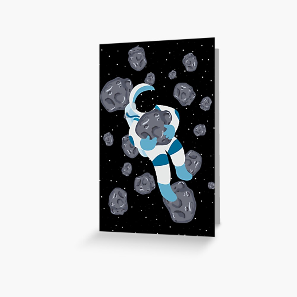 Asteroid Hugs Greeting Card