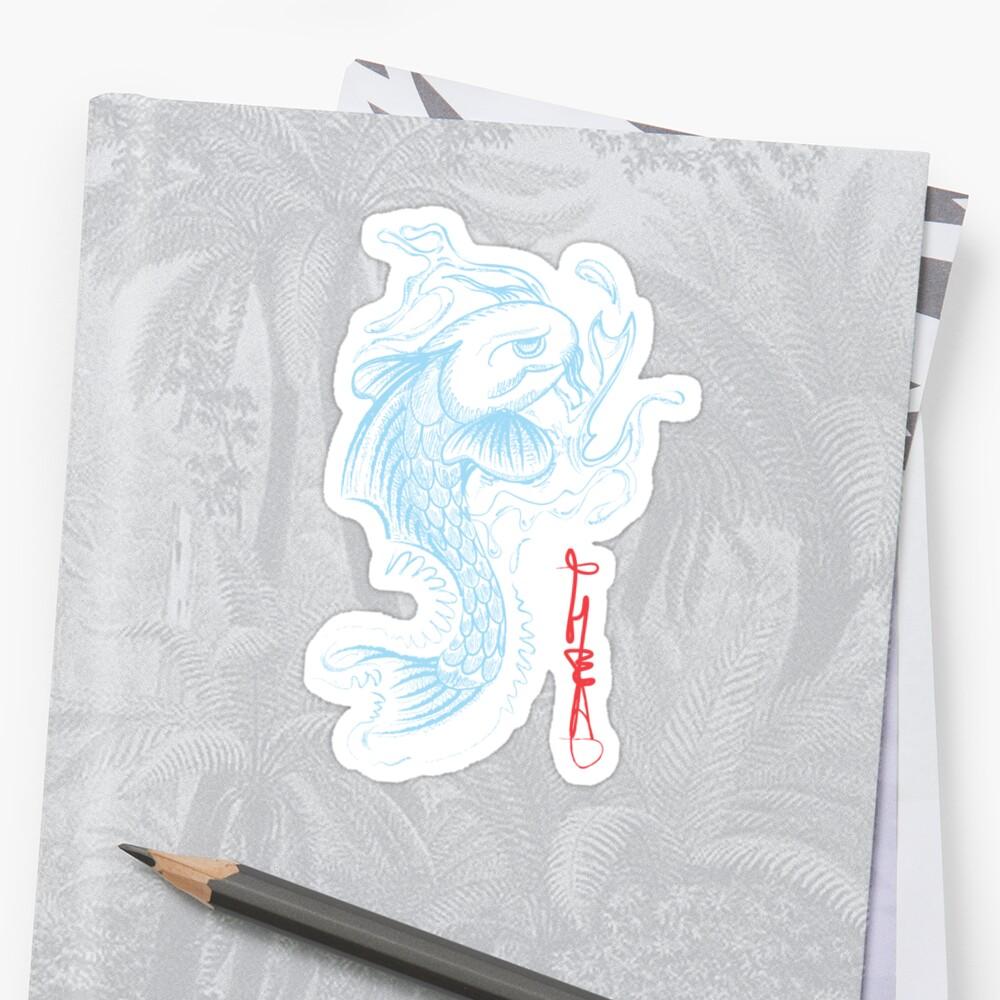Koi Digital Brush Painting by t-head
