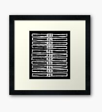 Brush Squares Framed Print
