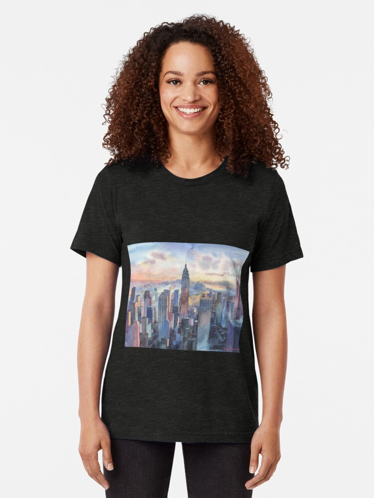 Alternate view of New York Tri-blend T-Shirt
