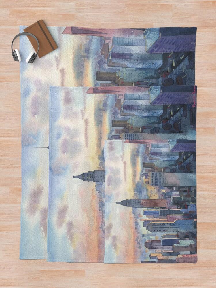 Alternate view of New York Throw Blanket