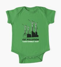 Cut Pollution - Clean Energy Now One Piece - Short Sleeve