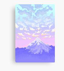 Sunset on Pastel Mountain Canvas Print