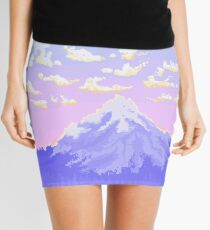 Sunset on Pastel Mountain Mini Skirt