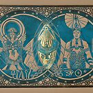 Isis, Osiris and Horus by SapphireRRArt
