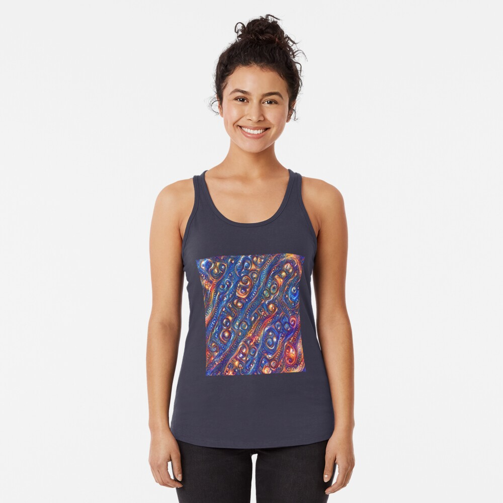 Fire and Water motif Racerback Tank Top