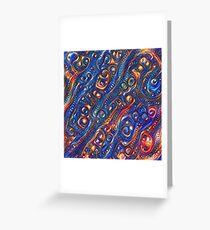 Fire and Water motif Greeting Card