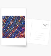 Fire and Water motif Postcards