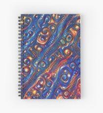 Fire and Water motif Spiral Notebook