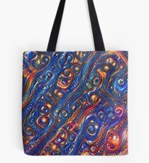 Fire and Water motif Tote Bag