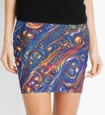 Fire and Water motif Mini Skirt