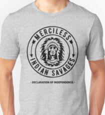 Gnadenlose indische Wilde - Unabhängigkeitserklärung-Zitat Slim Fit T-Shirt