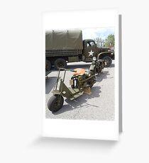 Militärfahrzeuge Grußkarte