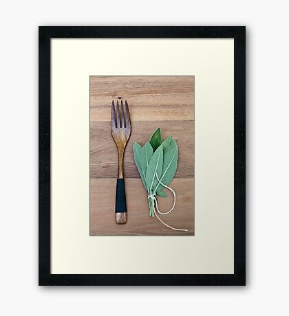 Fork and Sage Framed Print