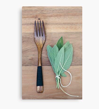 Fork and Sage Metal Print