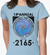 The Time Traveler's Conference 2165 Women's Fitted T-Shirt