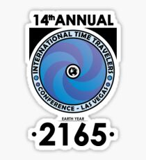 The Time Traveler's Conference 2165 Sticker