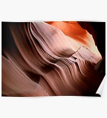 Antelope Canyon's soft curves Poster