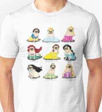 Pug Princesses Unisex T-Shirt