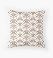 Lily abstract Throw Pillow