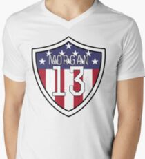 Alex Morgan #13 | USWNT Men's V-Neck T-Shirt