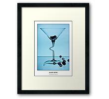 Cocktails with Dali - Titled Print Framed Print