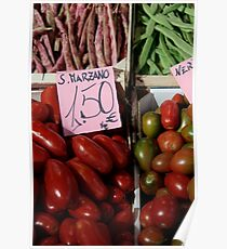 Vegetables at Italian Market Poster