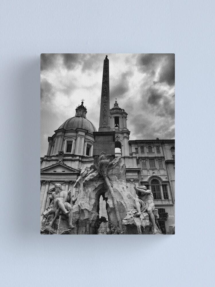 Alternate view of La fontana dei quattro fiumi Canvas Print