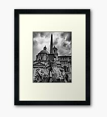 La fontana dei quattro fiumi Framed Print