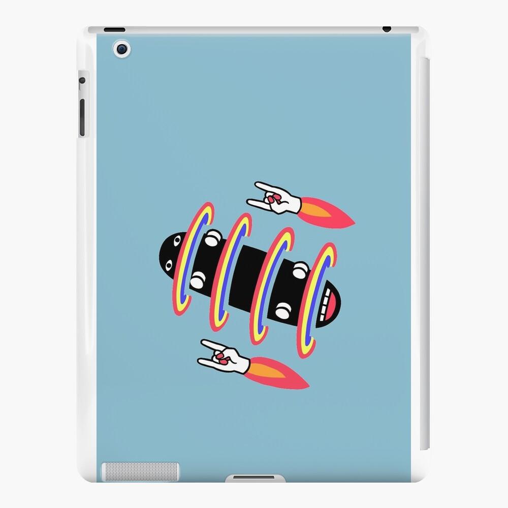 flipped skateboard and rad rockets iPad Cases & Skins