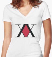 Hunter Association Logo - Hunter X Hunter Women's Fitted V-Neck T-Shirt