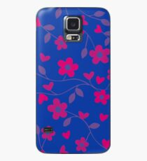Bi Pride Flowers and Vines Pattern Case/Skin for Samsung Galaxy