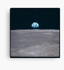 Apollo Archive Earth Rise over Moon Leinwanddruck