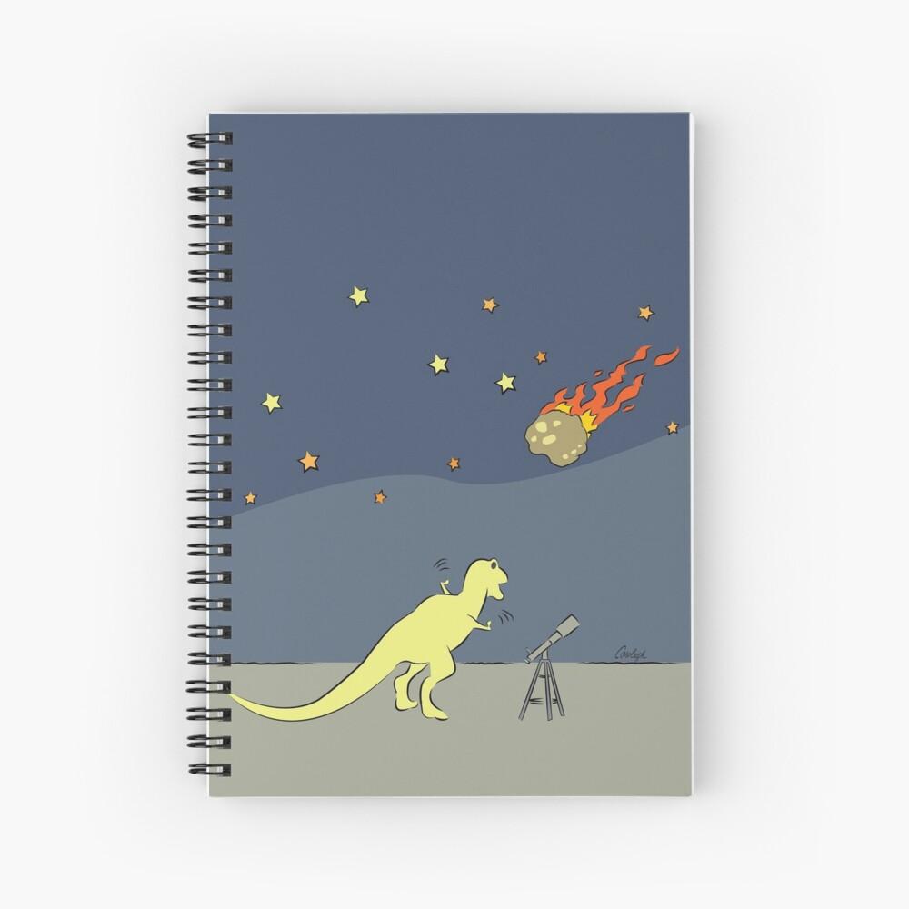 Dino Disaster - AsteroidDay Spiral Notebook