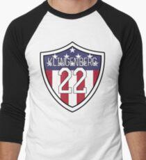 Meghan Klingenberg #22 | USWNT Men's Baseball ¾ T-Shirt