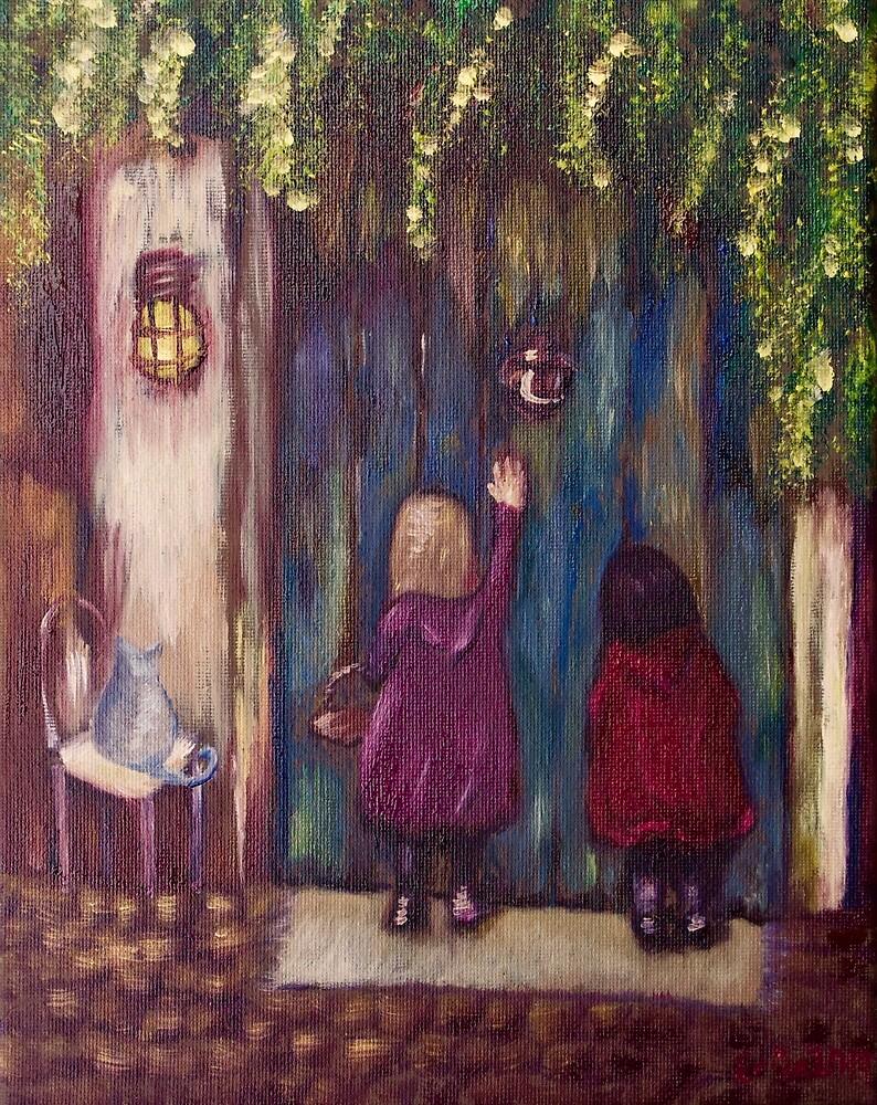 Visiting Grandma (oil on Canvas) by Erica Robbin