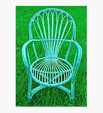 VINTAGE WHICKER CHAIR Photographic Print
