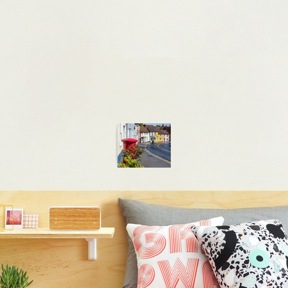 Thaxted colorful houses, Essex Photographic Print