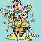 Kawaii Honey Queen Bee Girl Pastel Goth by lunaelizabeth