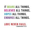 Love Never Fails - Qualities by denisethorn