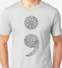 Patterned Semicolon T-Shirt