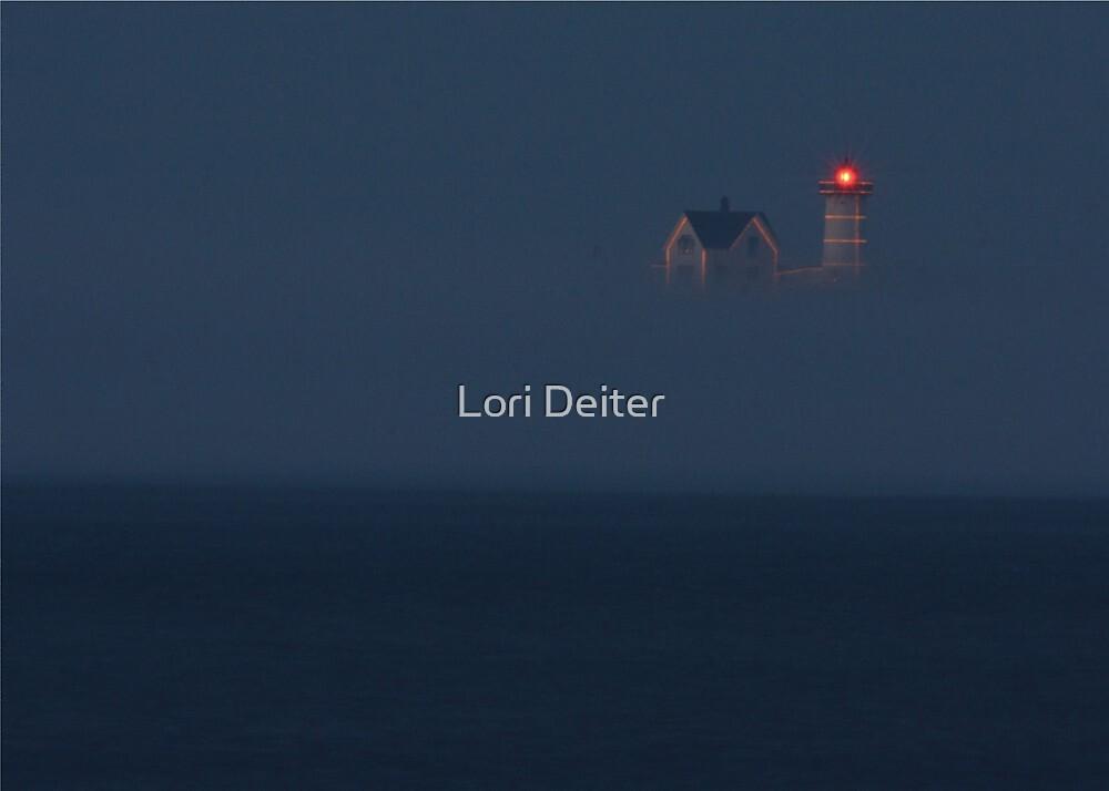The Nubble at Night by Lori Deiter