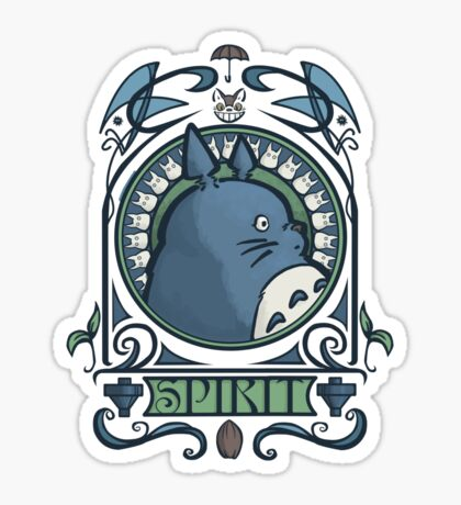 Forest Spirit Nouveau Sticker