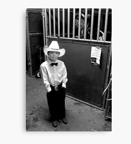 Cowboy & His Horse Canvas Print