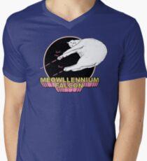 Meowllennium Falcon Men's V-Neck T-Shirt