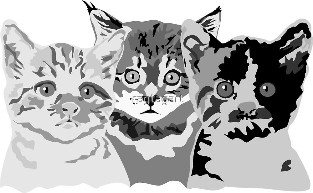 Kittens by ragtagart