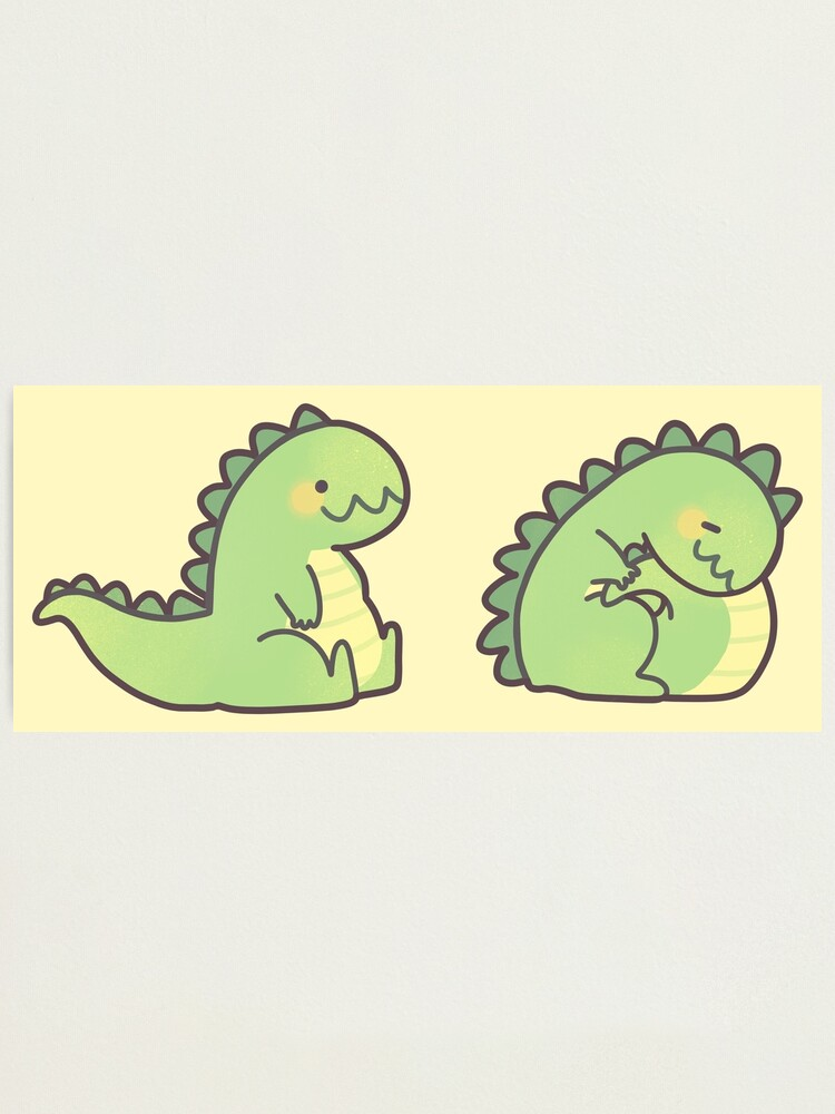 Alternate view of Cute Chubby Sleepy Dragon - Green Photographic Print