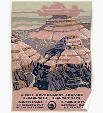 WPA United States Government Work Project Administration Poster 0015 Grand Canyon National Park Service Poster