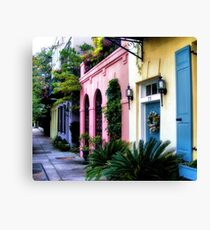Summertime on Rainbow Row Canvas Print