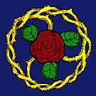 Guilded Thorn Symbol [Blue] Tapestry by LegaciesLARP
